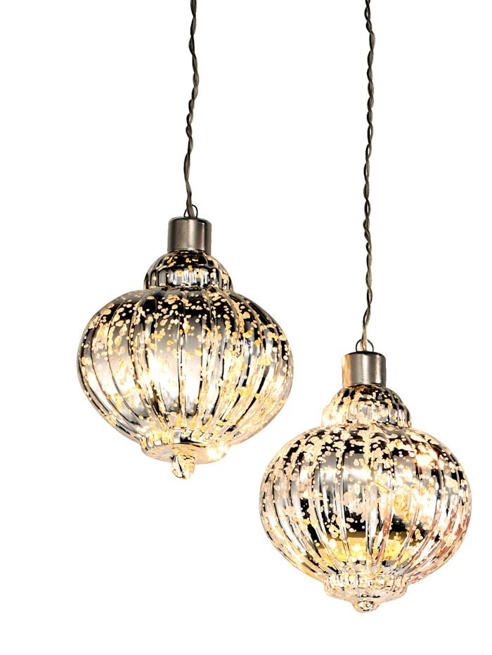 Näve 2-d. súprava LED lámp, Zlatá