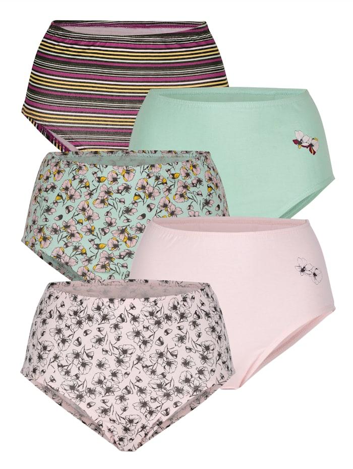Harmony Kalhotky v 5-balení, Jadeit/Růžová