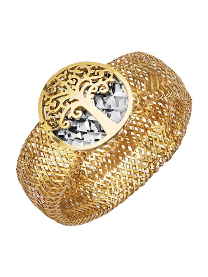 KLiNGEL Mesh-Ring in Gelbgold 375, Gelbgoldfarben