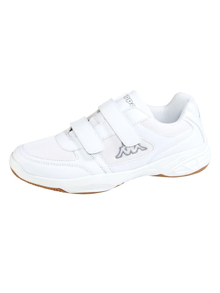 Kappa Dacer-Sportschuh mit hallengeeigneter Laufsohle, Weiß
