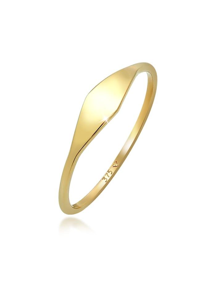 Elli Premium Ring Marquise Form Elegant Statement 375 Gelbgold, Gold