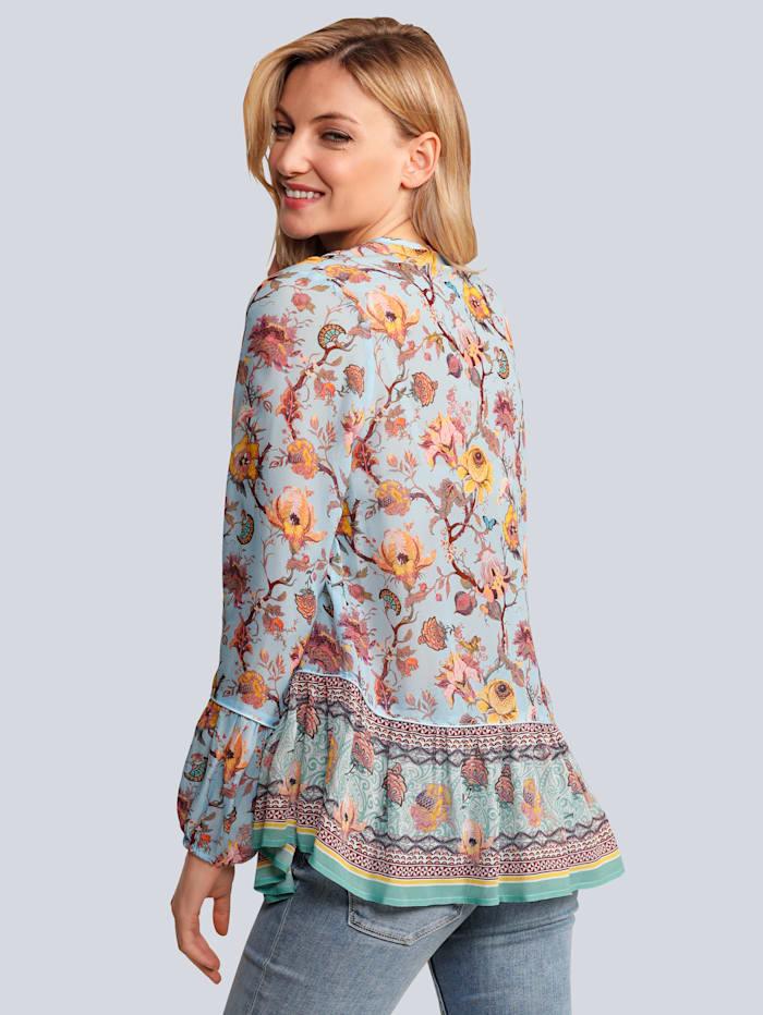 Bluse im schönem Blumendruck