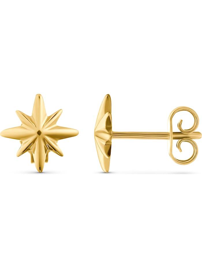 CHRIST Gold Damen-Ohrstecker Ohrschmuck Polarstern 375er Gelbgold