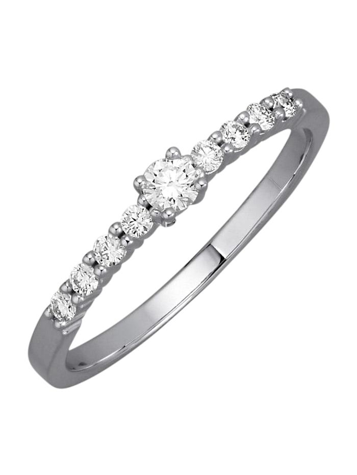 Diemer Diamant Valkokultainen timanttisormus, Valkokullanvärinen