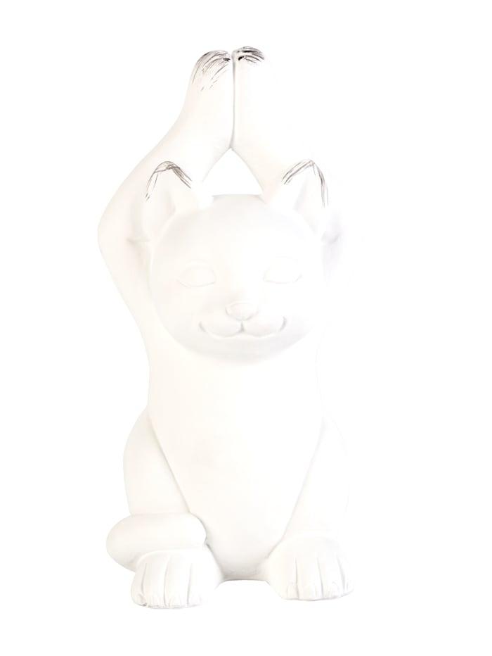 IMPRESSIONEN living Deko-Objekt, Yoga-Katze, weiß