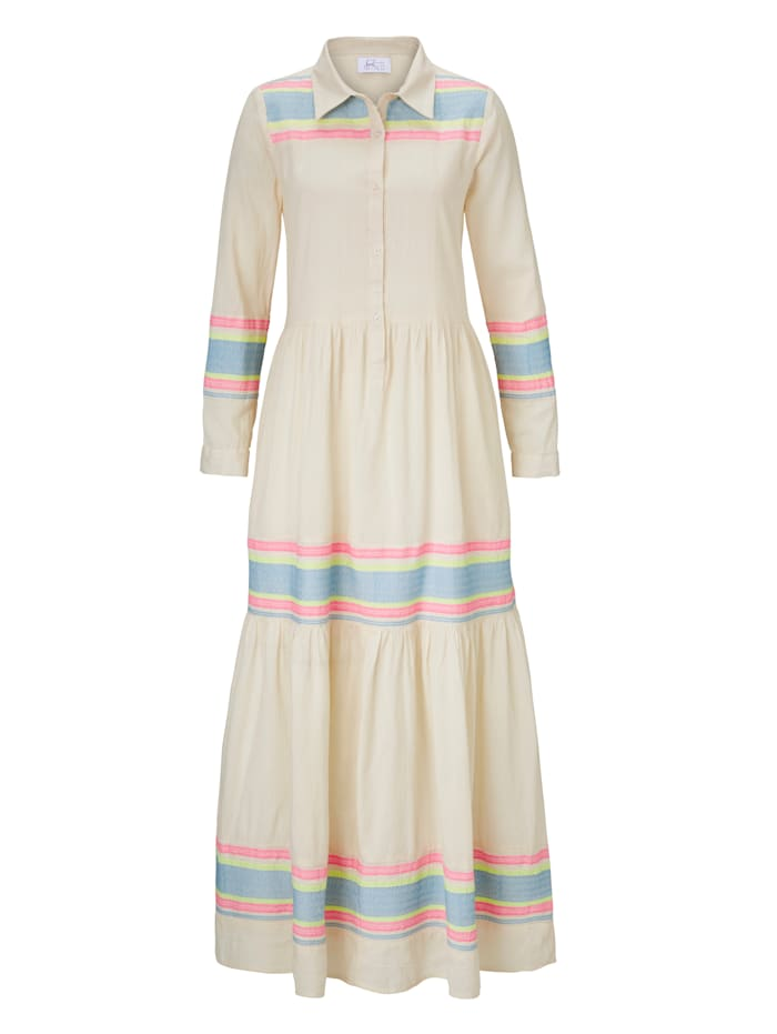 Heart Mind Maxikleid mit Stickerei, Beige