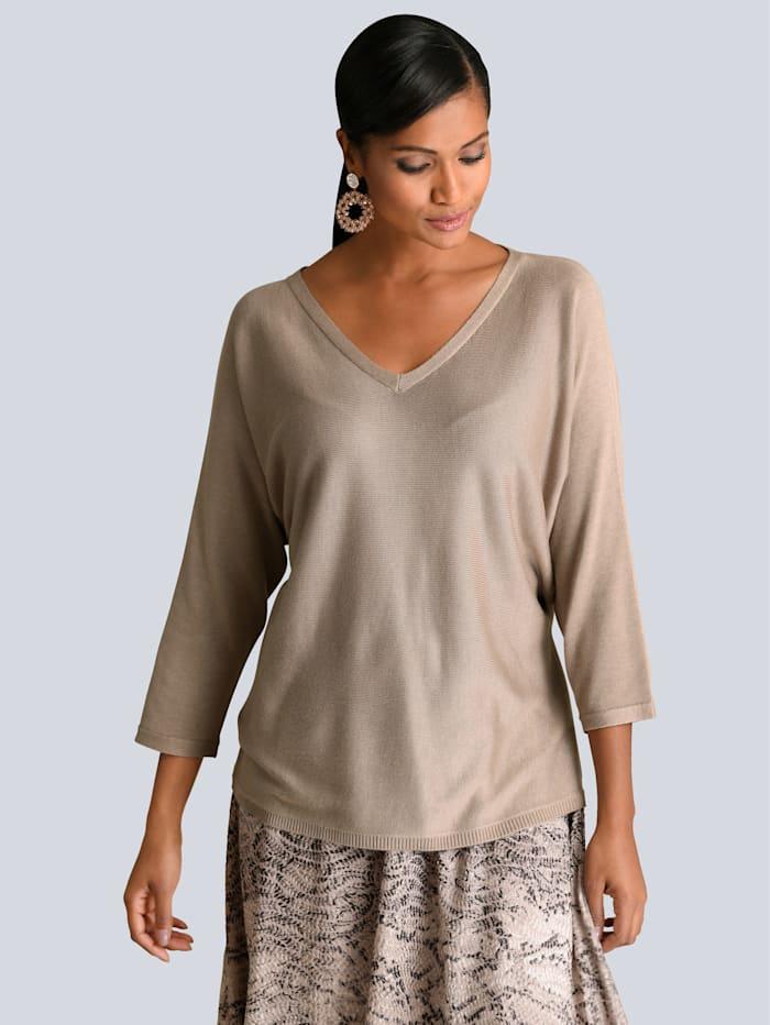 Alba Moda Pullover in softer Qualität, Taupe