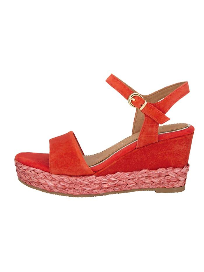 Sandaaltje met sleehak in bastlook