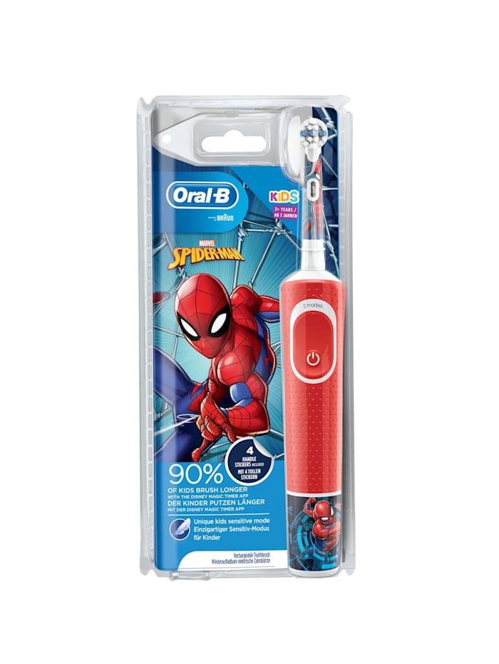 Braun Elektrische Zahnbürste Oral-B Vitality 100 Kids Spiderman, Rot