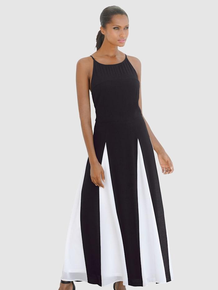 Alba Moda Chiffon-Kleid in Two-Tone-Optik, schwarz-weiß