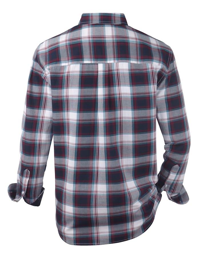 Skjorta med struktureffekter