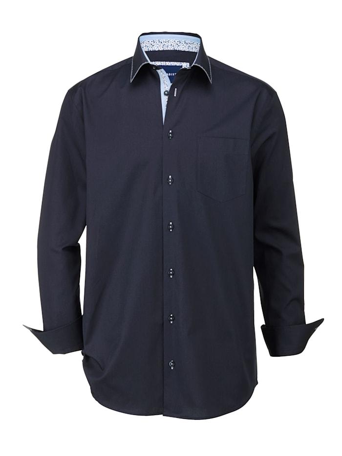 BABISTA Overhemd met bijzondere details, Marine
