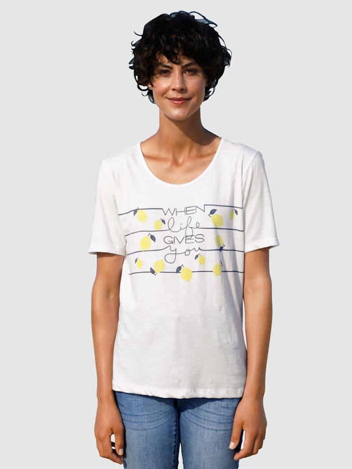 Dress In Shirt mit schönem Druck, Weiß
