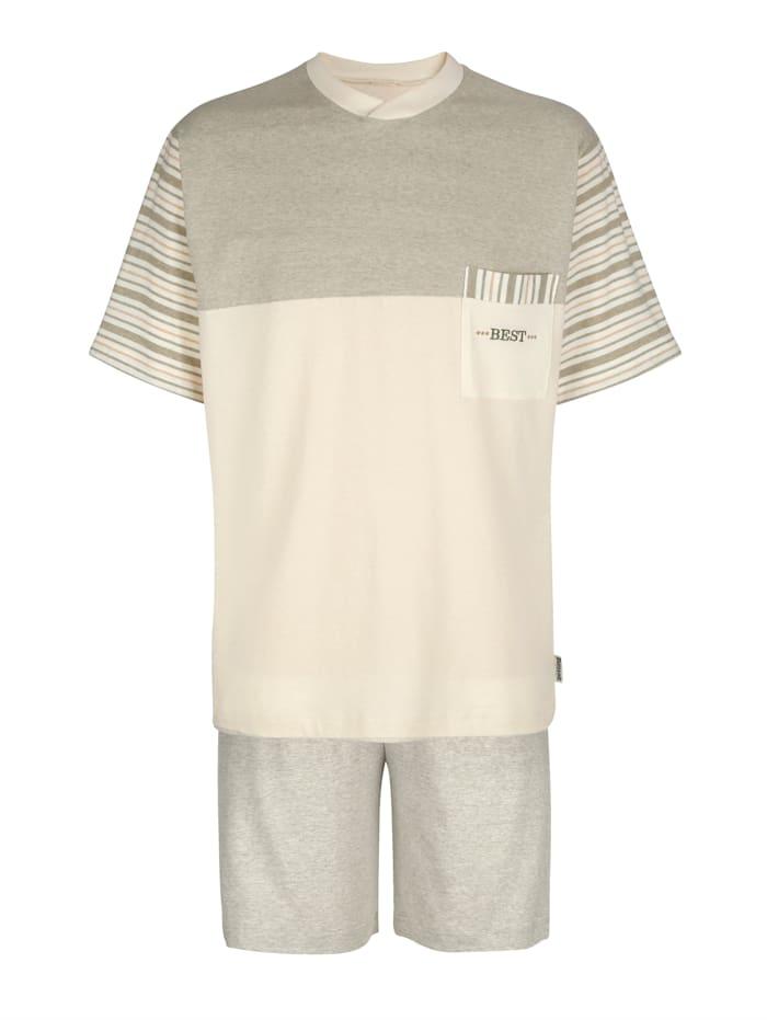 Götting Pyjamas av bomull i naturlig färg, Natur