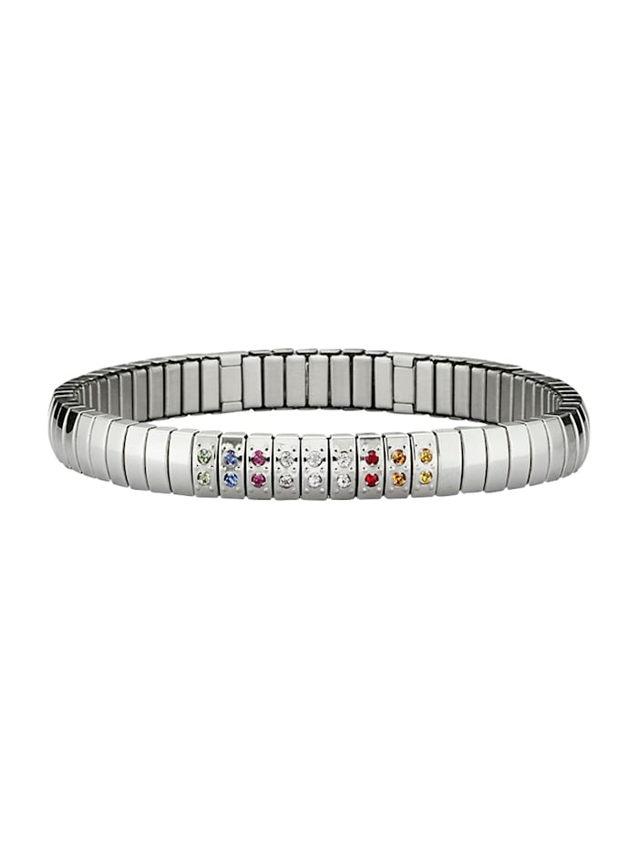 Magnetic Balance Armreif aus Edelstahl, Silberfarben