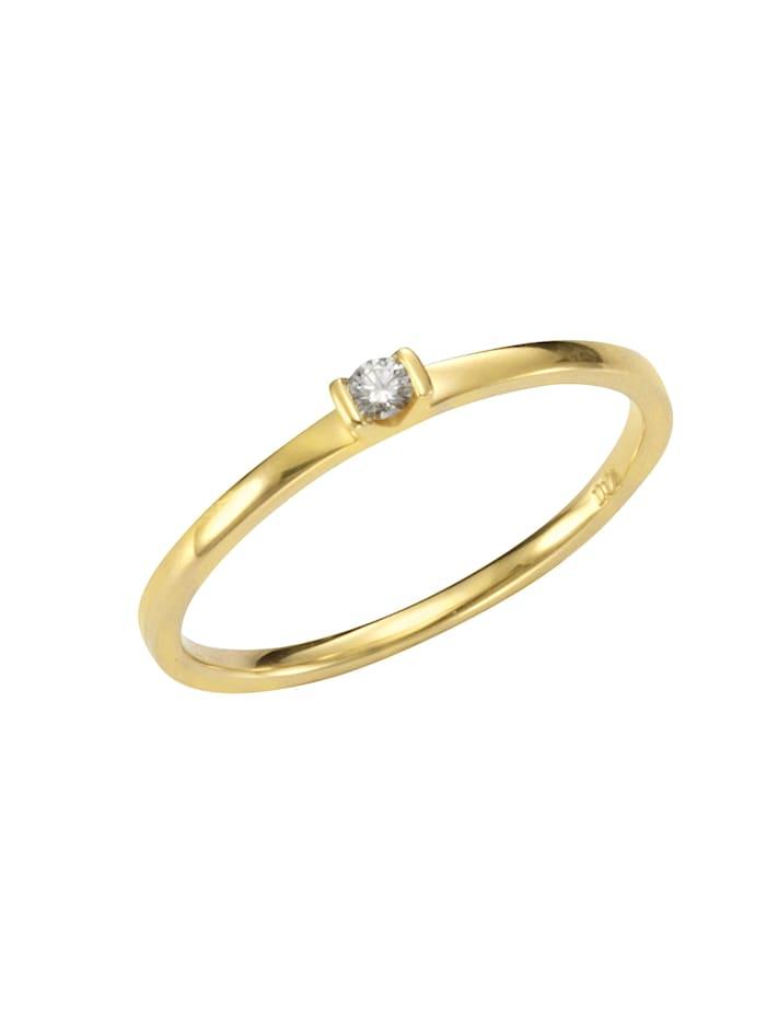 Orolino Ring 585/- Gold Brillant weiß Brillant Glänzend 0.04 Karat 585/- Gold, gelb