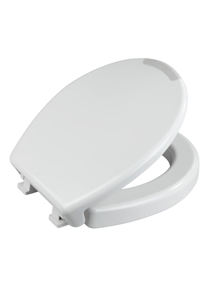 WC-Sitz Secura Comfort, aus antibakteriellem Duroplast mit Sitzflächenerhöhung