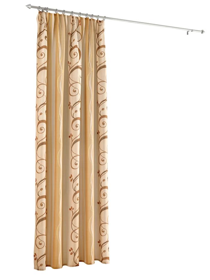 Home Wohnideen Dekoračná záclona 'Luna', mokka