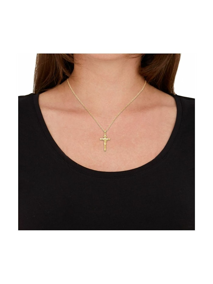 Anhänger Unisex, Gold 585, Kreuz mit Corpus
