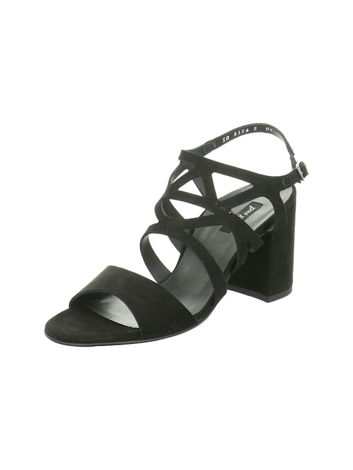 Paul Green Damen Sandale in schwarz, schwarz