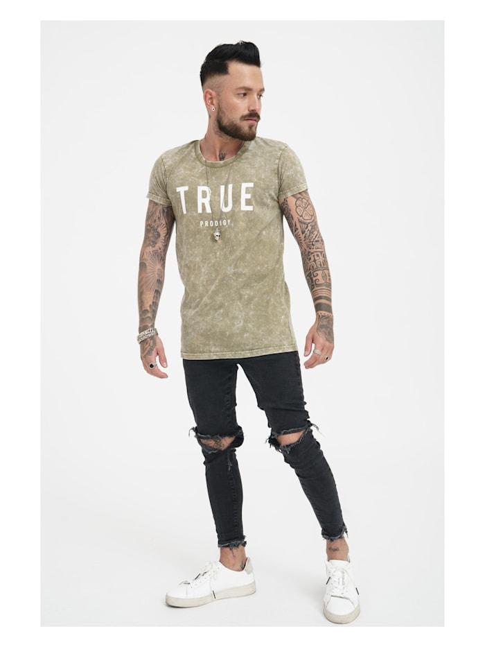 trueprodigy T-Shirt Dean mit coolem Frontprint, 0629-khaki