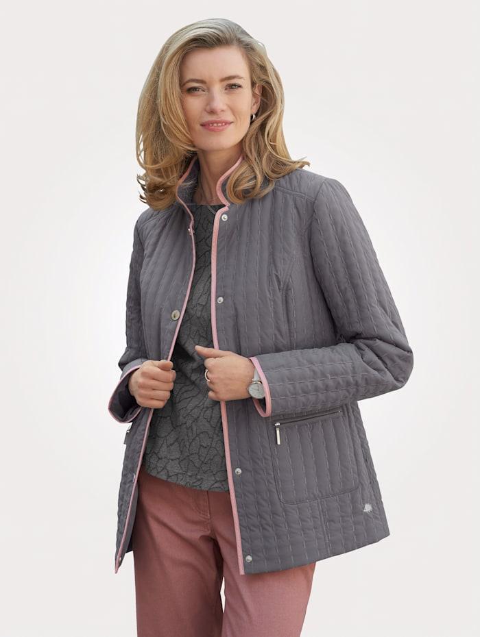 Jacke mit Glanzgarn-Steppungen