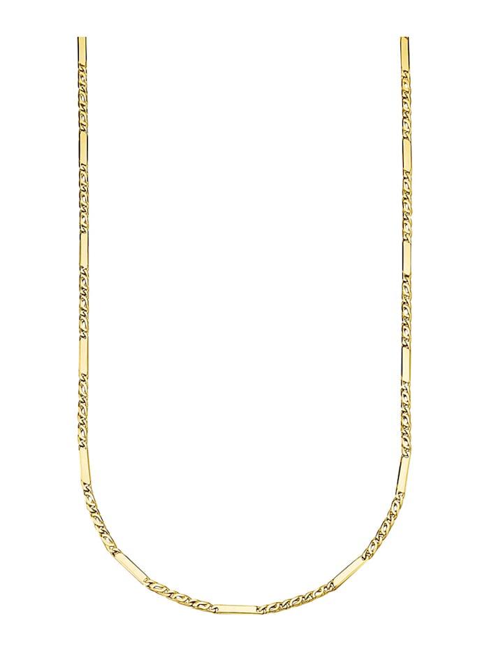 Diemer Highlights Halskette in Gelbgold 585, Gelbgoldfarben