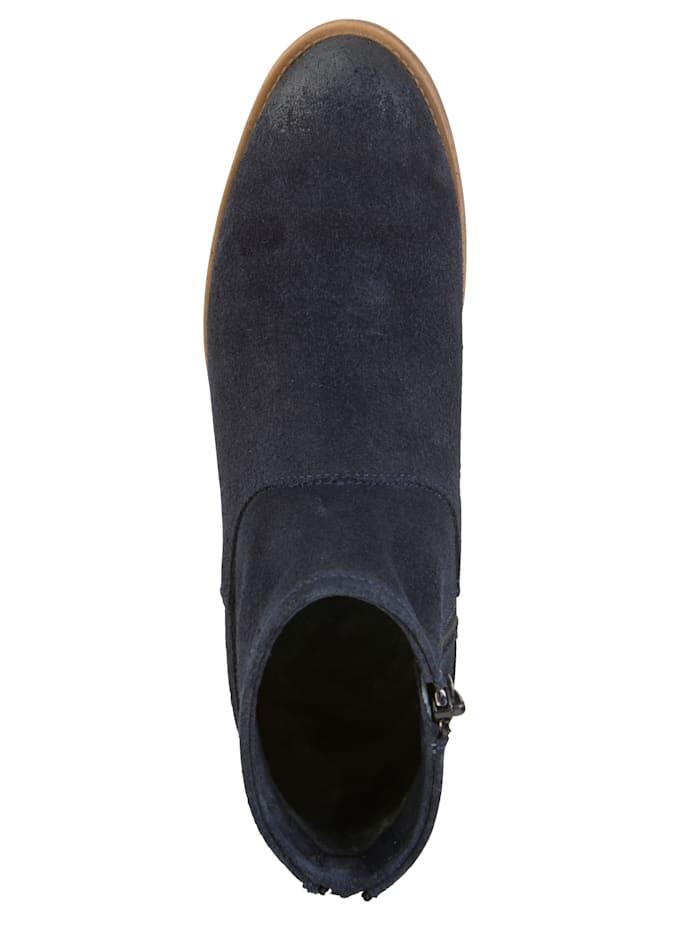 Bottines en cuir velours haut de gamme
