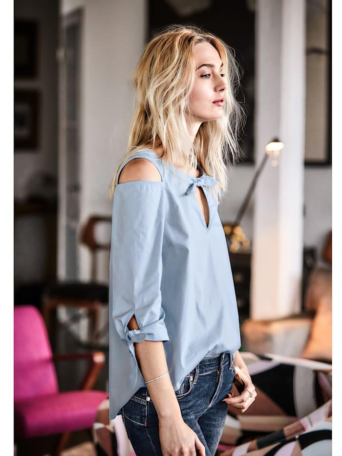 Bluse mit modischen Cut-Outs