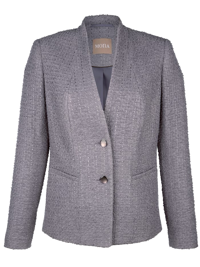 Blazer in bouclé fabric