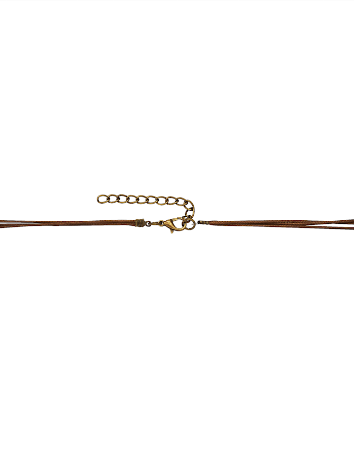 Gold-coloured necklace