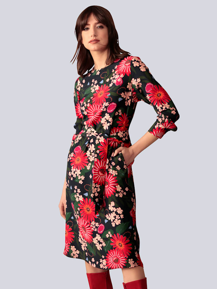 Seidensticker Schwarze Rose Kleid mit Bindegürtel, Dunkelblau