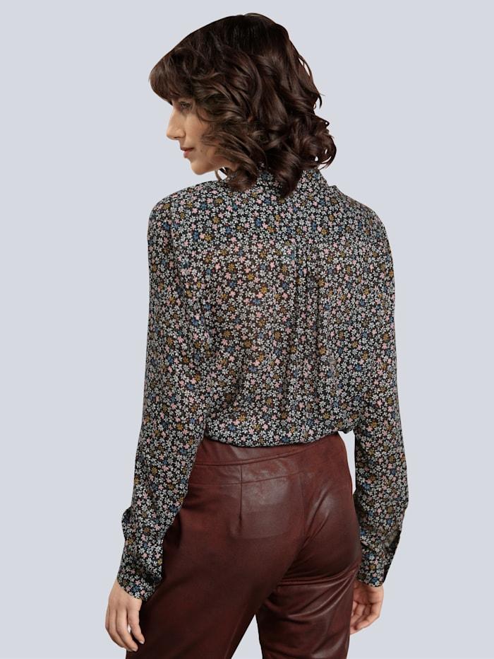 Bluse mit abnehmbarer Schleife