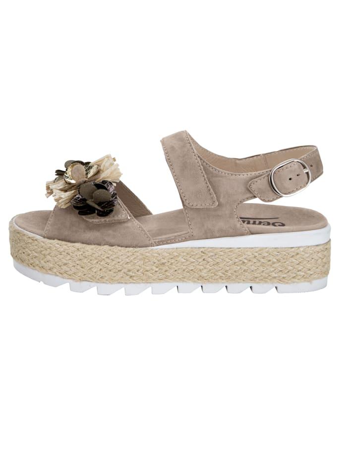 Sandales à plateau à bride auto-agrippante réglable au cou-de-pied