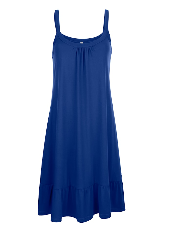 Maritim Strandklänning med volang, Kungsblå