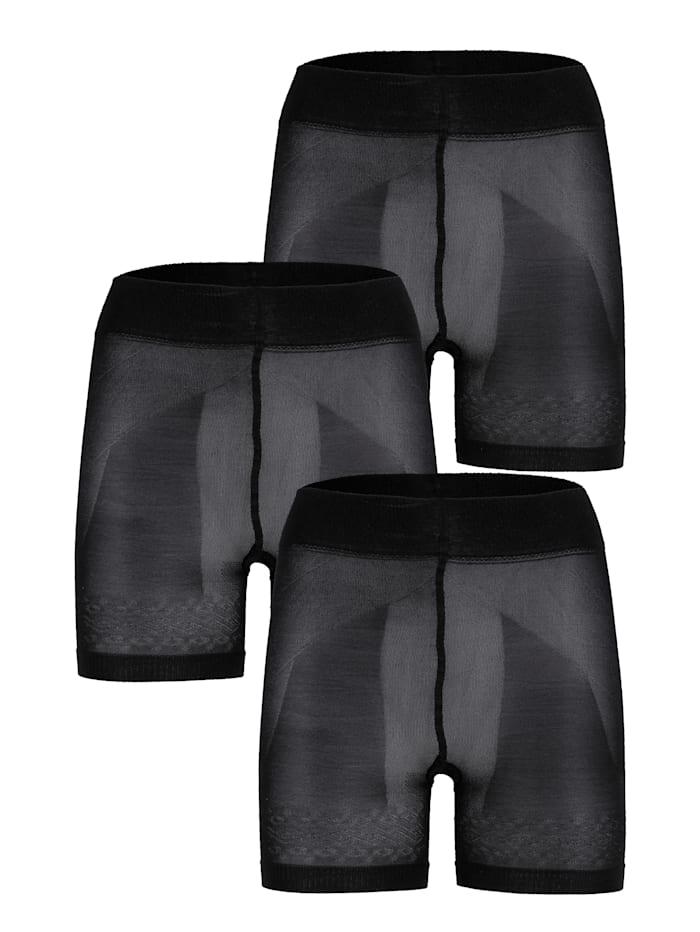 Disee Corrigerende broek met flatterend effect, 3x zwart