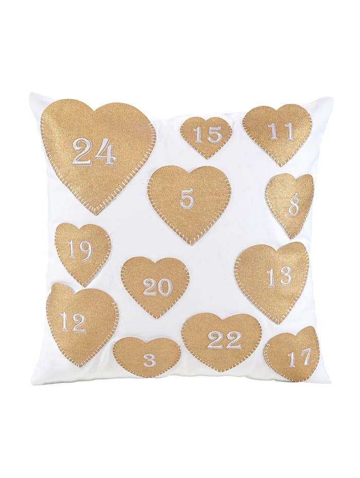 miaVILLA Kissenhüllen-Set Heart, 2-tlg., Weiß