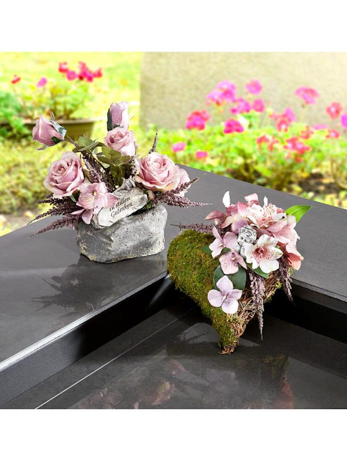 IGEA Rosenarrangement auf Stein, Mehrfarbig