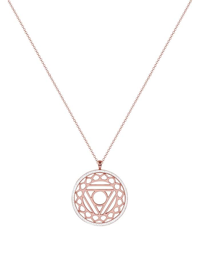 Halskette Vishuddha Chakra Kristalle 925 Silber