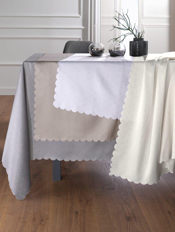 Webschatz Tischwäsche 'Pünktchen', platin