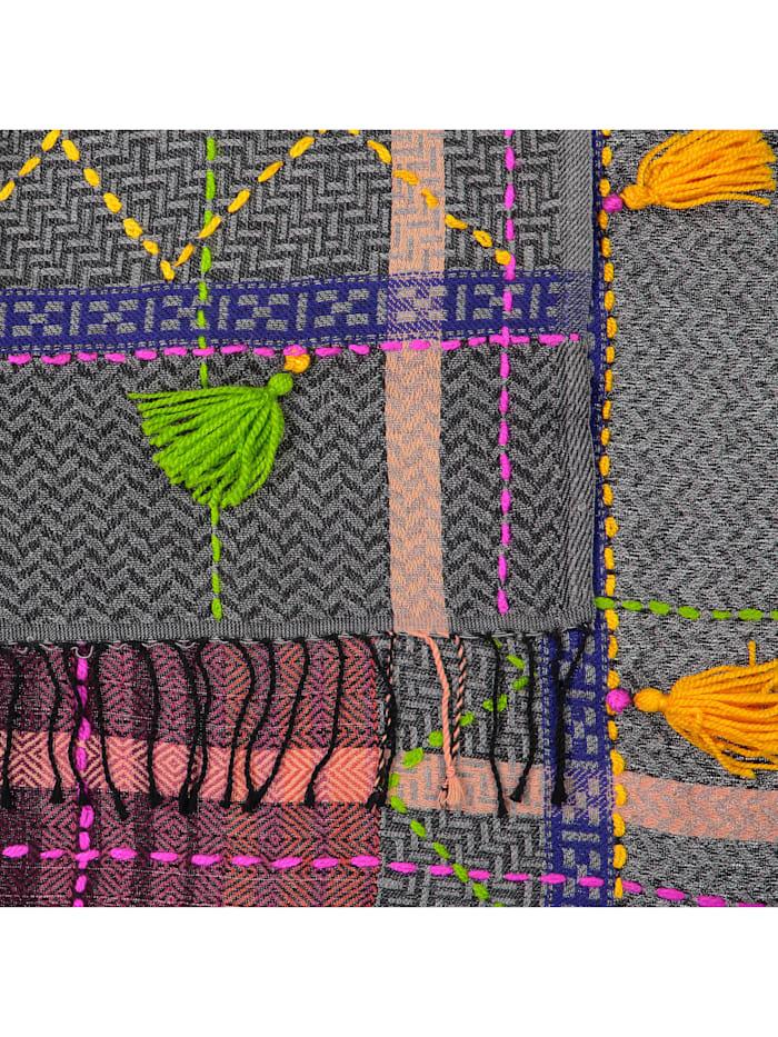 Art School Folklore-Schal mit Tassels