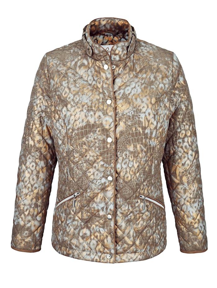 Gewatteerde jas met animaldessin