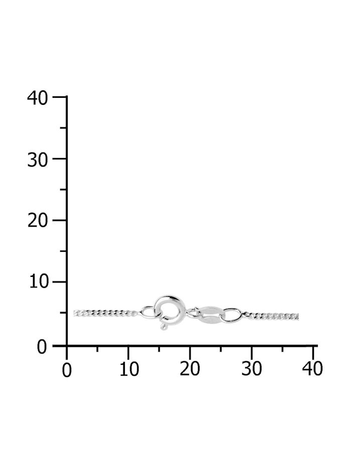 Kette - Panzer diamantiert 1,3 mm breit - Silber 925/000 - ,