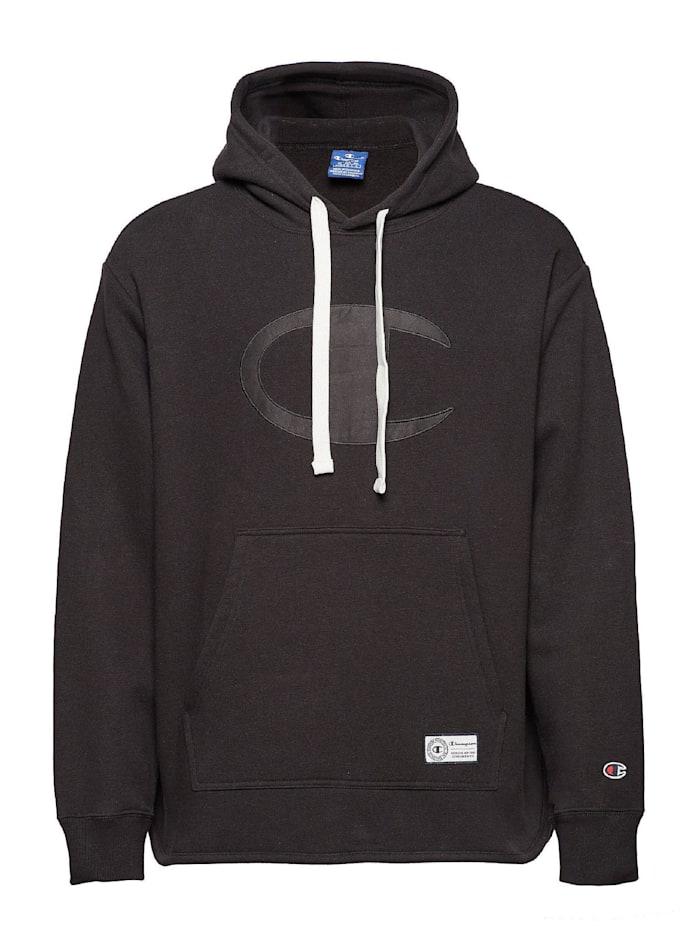 Champion Champion Sweatshirt Hooded, Schwarz