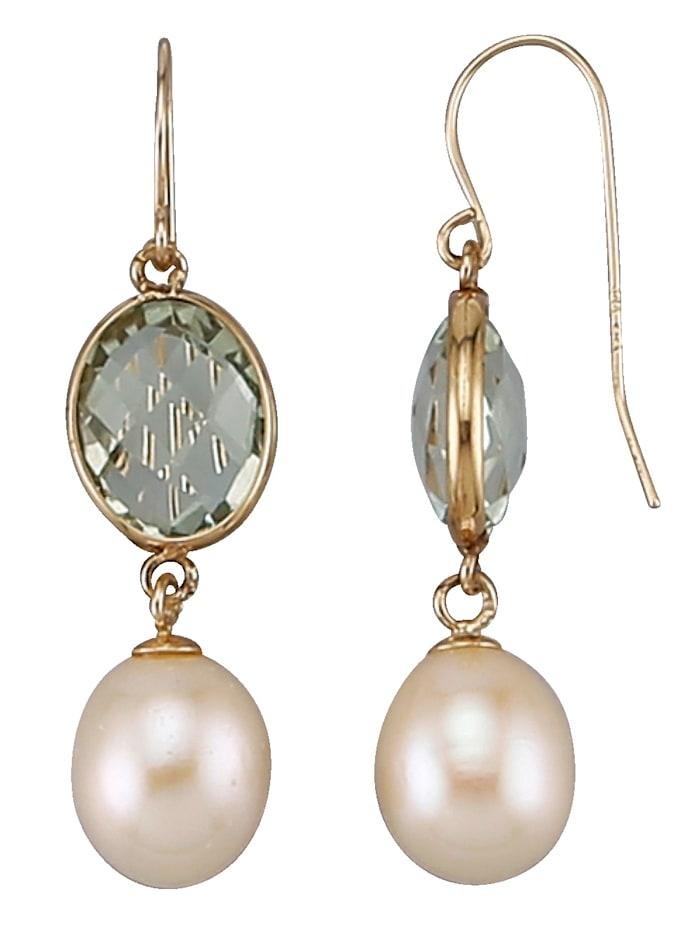 Diemer Perle Oorhangers metcultivé zoetwaterparels, Multicolor