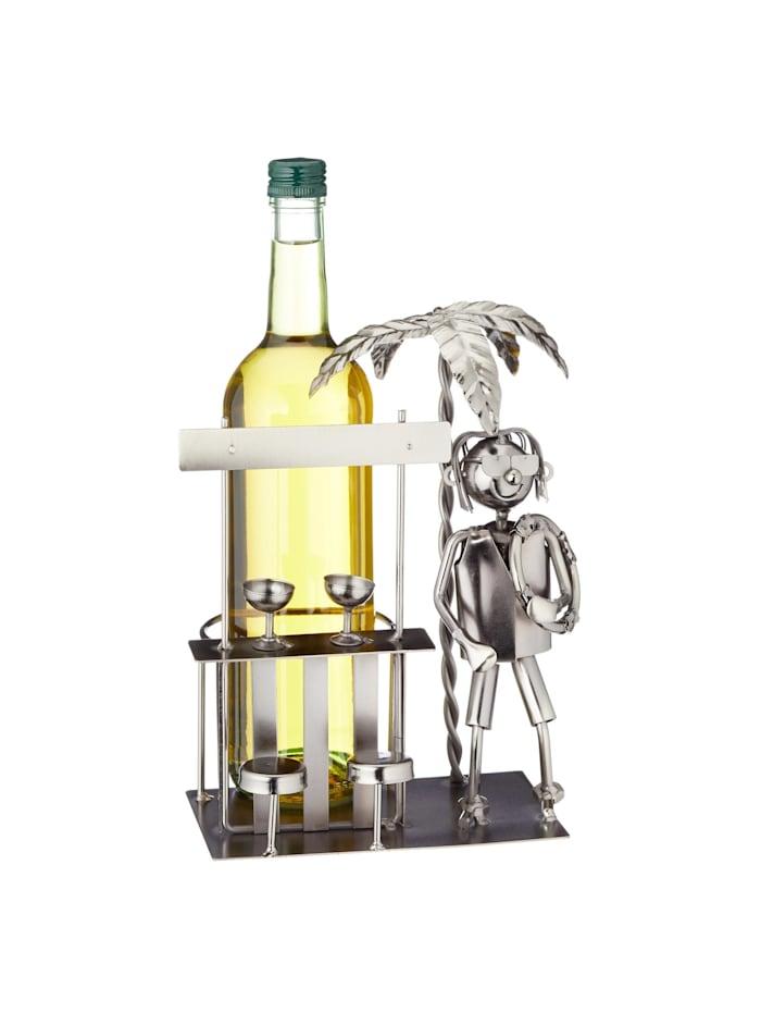 HTI-Living Weinflaschenhalter Urlaub, Silber