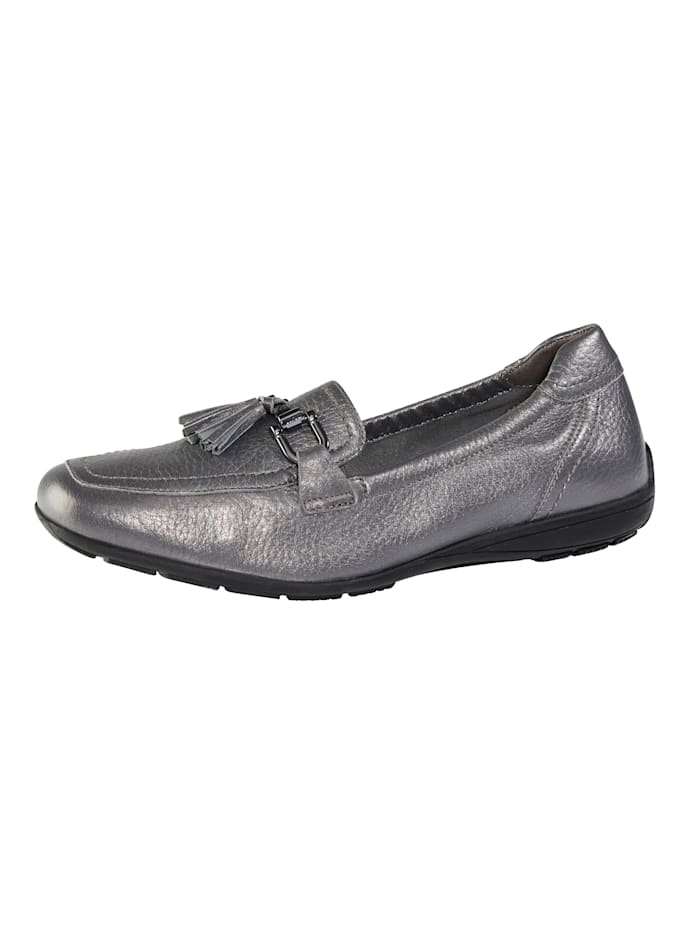 MONA Loafers made from premium leather, Grey