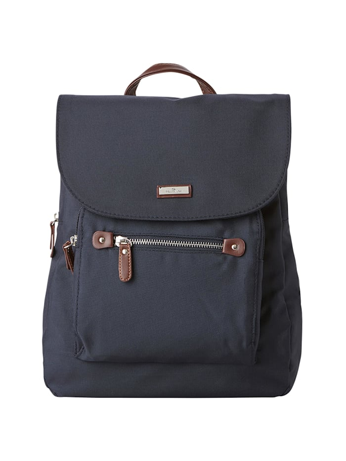 Tom Tailor Rina Rucksack, dark blue cognac
