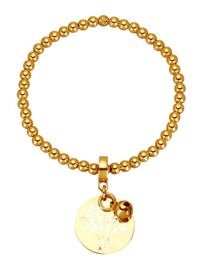 Bracelet à billes plaqué or