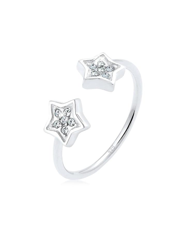 Elli Ring Sterne Swarovski® Kristalle 925 Sterling Silber